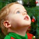 Baby boy on Christmas — Stock Photo