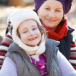 Grandmother and granddaughter — Stockfoto