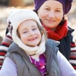 Бабушка и внучка — Стоковое фото