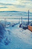 Winter in Romanian countryside — Stock Photo