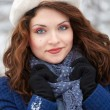 Woman outdoor in winter — Stockfoto