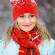 Portrait of womoutdoor in winter — Stock Photo #9194664