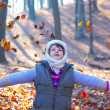 Little girl in the forest — Stock Photo #9206084