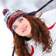 Young woman in winter — Stockfoto