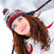 Young woman in winter — Foto de Stock