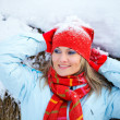 Woman portrait in winter - Stock Photo