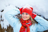 Woman portrait in winter — Stock Photo