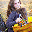 Young woman portrait in autumn — Stock Photo #9232025