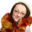 Young woman ready for Christmas — Stock Photo