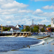 Athlone city and Shannon river - Stock Photo