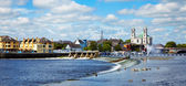 Athlone city and Shannon river — Stock Photo