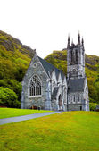 Gothic church at Kylemore Abbey — Stock Photo