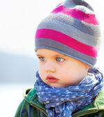 Serious baby boy — Stockfoto