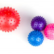 Balls toy multi colored with pins — Stock Photo