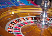 Roulette, a rolling ball — Stock Photo
