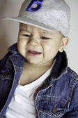Baby boy crying — Stock Photo
