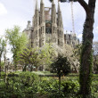 Stock Photo: Sagradfamiliconstruction in Barcelona