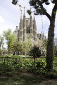 Sagrada familia construction in Barcelona — Stock Photo