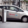 Stock Photo: Autolib electric car Paris