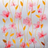 Абстрактный прозрачности розовые цветы — Cтоковый вектор