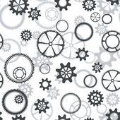 Seamless gear pattern — Stock Vector