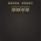 2012 のコードを入力します。 — ストックベクタ