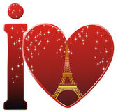 I love Paris — Stock Vector