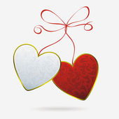 Couple of hearts — Stock Vector