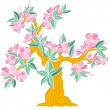 Spring flowering tree — Stock Vector