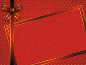 Röd ram med rosett — Stockvektor