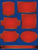 Vintage frames instellen — Stockvector
