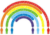 Volkeren regenboog — Stockvector