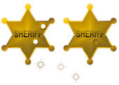 Sheriff badge — Vector de stock