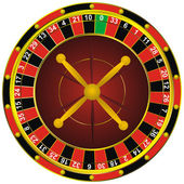 Casino roulette wheel — Stock Vector