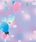 воздушные шары в небе — Cтоковый вектор
