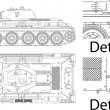 Royalty-Free Stock Vectorielle: T34 Russian Tank