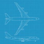 Modern civil airplane — Stock Vector