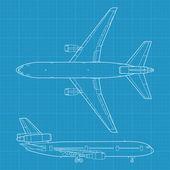 Avião civil moderno — Vetorial Stock