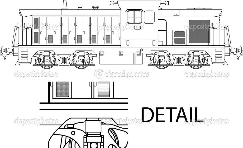 High detailed vector illustration of modern locomotive — Stock Vector #10553036