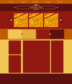Vector web site layout — Stock Vector
