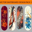 Royalty-Free Stock Vector Image: Skateboard design pack 15