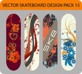 Skateboard design pack 15 — Stock Vector