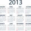2013 vector calendar — Stockvectorbeeld