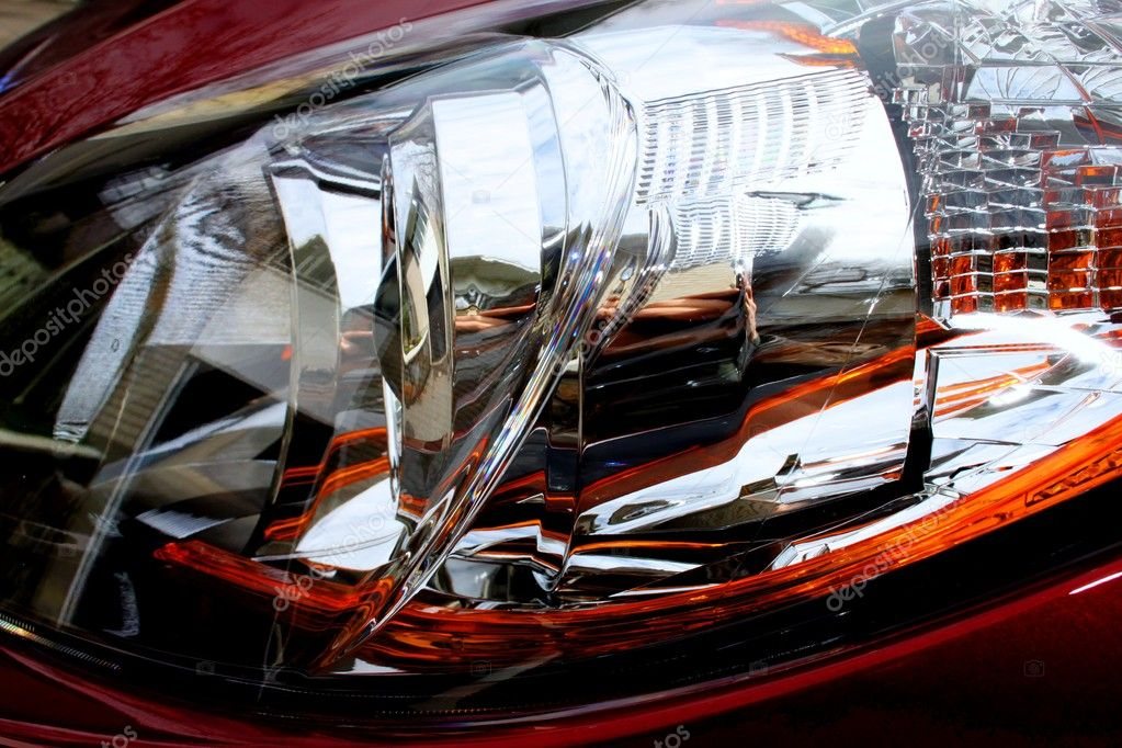 Close up of front halogen lamp from car in high dynamic range — Stock Photo #10164130