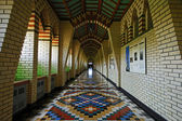 Gothic hallway — Stock Photo