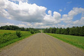 Straight country road 2 — Stock Photo