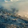 The Chilkat Valley under a covering of snow — Stock Photo