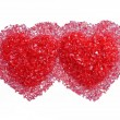 Stock Photo: Two hot red hearts
