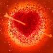 Hot red Heart pierced with arrow — Stock Photo #8908996