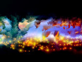 Nebulae of fractal foam — Stock Photo